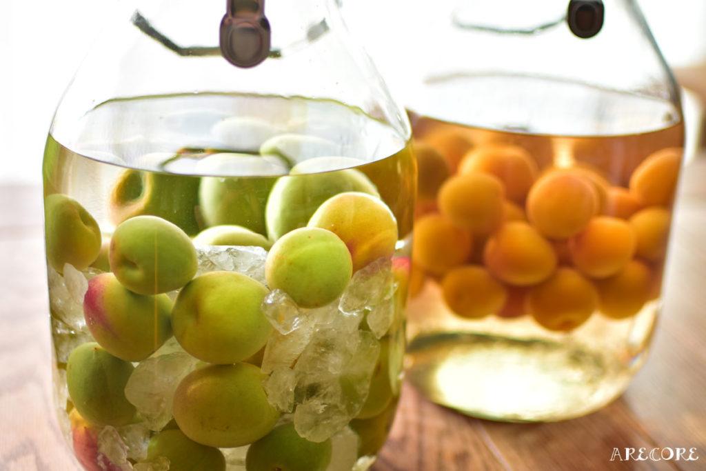 青梅と完熟梅の梅酒
